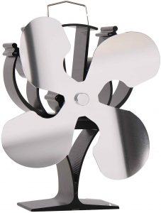 Nouveau ventilateur de poêle à chaleur à 4 pales conçu