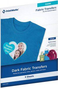 Transferts de T-shirt foncé Printworks pour imprimantes à jet d'encre