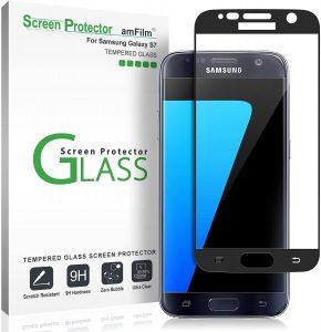 Protecteur d'écran amFilm Full Coverage pour S7