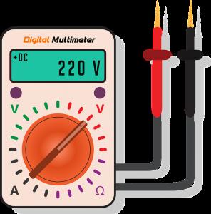 Test avec un multimètre