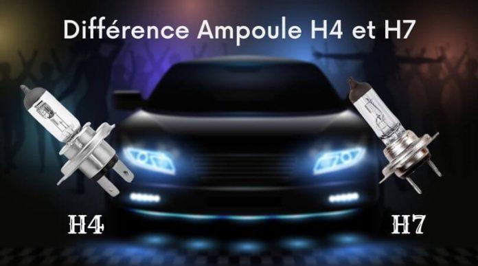 Différence Ampoule H4 et H7